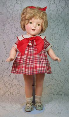 Absolutely Stunning Shirley Temple Doll w/ Original Dress & Box