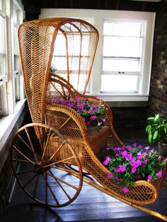 wickerparadise: vintage wicker rickshaw & visit our Wicker Furniture Blog or shop online via: Wicker Paradise Store