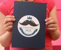 Carte de Fête des pères pluie d'amour pour Papa - Jouonsensemble.fr