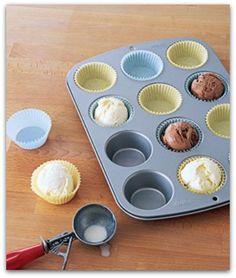 cupcake liner as ice cream bowl
