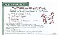 Make some meatballs for National Mutt Day!