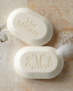 Personalized Luxe Soaps, the perfect #happy or #StockingStuffer! // Neiman Marcus- #Monograms #MonogrammedSoap