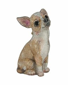 Chihuahua Crystal Minaudiere, Champagne Multi by Judith Leiber Couture at Bergdorf Goodman.