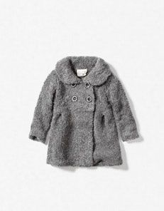 "Gray four button coat. This reminds me of my ""bear"" coat I had when I was little:) Cute Babies, Babies Stuff, Kid Stuff, Bear Coat, Zara Baby, Kids Outfits, Baby Outfits, Kids Coats, Kid Styles"