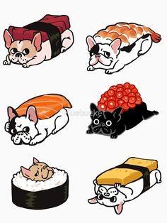 Sushi Frenchie by Huebucket