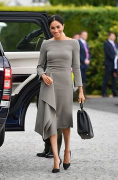 Make like Meghan in a midi dress by Roland Mouret #DailyMail