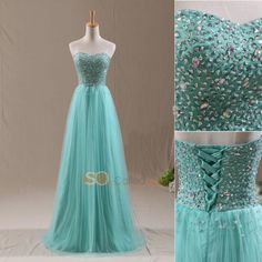 2014 BeadsTulle Prom Dresses Long Formal Gowns Bridemaid Dresses Cheap In Stock