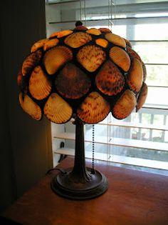 Sea Shell lamp made of ocracoke sea shells