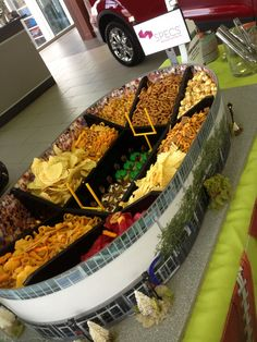 Superbowl Party Idea - Stadium Snack Buffet by SPECS Marketing & Event Planning