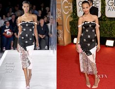 Zoe Saldana In Prabal Gurung - 2014 Golden Gold AwardsEvery gaze must have been directed Zoe Saldana's way, as she posed on the red carpet at the 2014…View Post