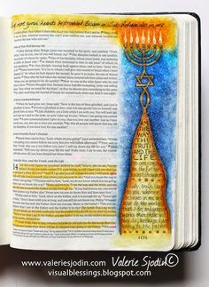 visual blessings: The Way, The Truth, The Life - Bible Art Journaling