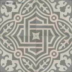 Tile can come in many different colors Cement Tile Shop - Encaustic Cement Tile Fountaine Antique Floor Design, Tile Design, Stone Tiles, Cement Tiles, Tile Decals, Mosaic Patterns, Classic Collection, Kitchen Flooring, Ikea