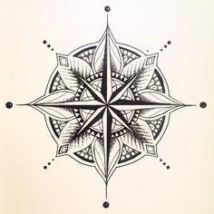 tattoo compass design - Rosa dos Ventos e Mandala <3  - Pesquisa Google