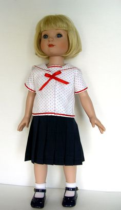 """18 inch Doll Clothes Handmade dresses made to fit 18"""" slim bodied dolls such as…"""