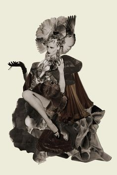Fabrizio Talia, Once Upon My Time, LTVs, Lancia TrendVisions - fashion collage.
