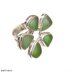 Flower Sea Glass Ring