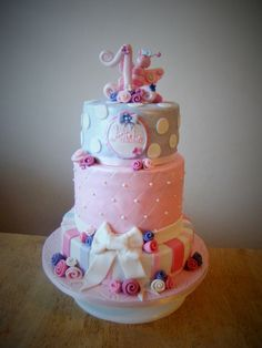 Butterfly 1st birthday cake