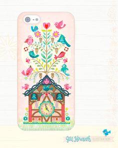 Lilla Rogers Bootcamp cuckoo phone case/ Jill Howarth illustration
