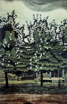 Burchfield - Locust trees