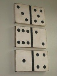 Anything in an unexpected size is more fun...like these giant dominoes!