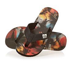 www.flipflopsuk.co.uk  Reef HT Prints Flip Flops - Rasta Flower!  #Flipflops #Espadrilles