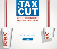 Sonic Half Price Drinks Sonic Happy Hour, Tax Day, Money Saving Mom, The Way Home, Good Things, Chart, Drinks, Half Price, Products
