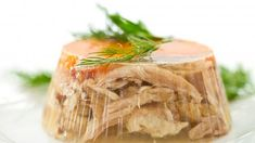 Aspic or jellied consommé. This one is made out of pork and poultry. Served whit shots of.) (dwie lornety i meduza ) Pork Recipes, Cooking Recipes, Healthy Recipes, Canning Soup, Polish Recipes, Polish Food, Russian Recipes, No Cook Meals, Food Photo