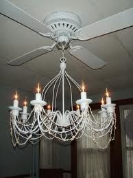Adding a chandelier to a ceiling fan