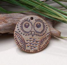 stoneware Owl Pendant by EveryHeartCrafts, via Flickr