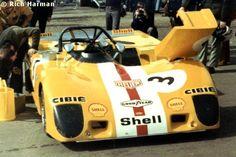 Jo Bonnier / Gérard Larrousse / Chris Craft, Lola T280 Ford, HU1, (one of the Le Mans cars), Ecurie Bonnier, BOAC 1000 Kilometres, 1972 (DNF).