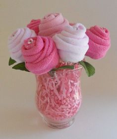 Child Bouquet - The Blossom - Child Bathe Present - Washcloth Roses. *** See even more by checking out the image link