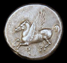 Ancient Greek Silver Stater, Pegasus, 350 - 306 BC