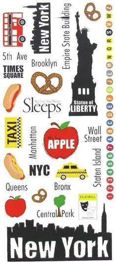 Items similar to Traveling NEW YORK City Stickers, Big Apple, Statue of Liberty, Times Square on Etsy New York Scrapbooking, New York Theme Party, New York Drawing, Apple City, New York City, Times Square, Liberty New York, Apple Stickers, New York Vacation