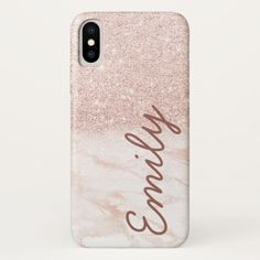Shop Rose Gold Marble Pink Ombre Faux Glitter Monogram Case-Mate iPhone Case created by CaseCreations. Personalize it with photos & text or purchase as is! Ipod Cases, Cell Phone Cases, Iphone Case Covers, Marble Iphone Case, Marble Case, Tech House, Apple Iphone, Iphone 8, Rose Gold Marble