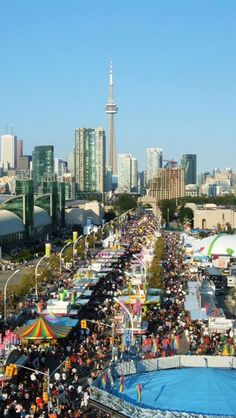 Canadian National Exhibition You can spend hours on the midway playing games of chance, the food buildings, the animal pavillions, flower pavillion not to mention rides Ottawa, Beautiful World, Beautiful Places, Toronto Ontario Canada, Canadian Travel, Destinations, Journey, Playing Games, National Parks