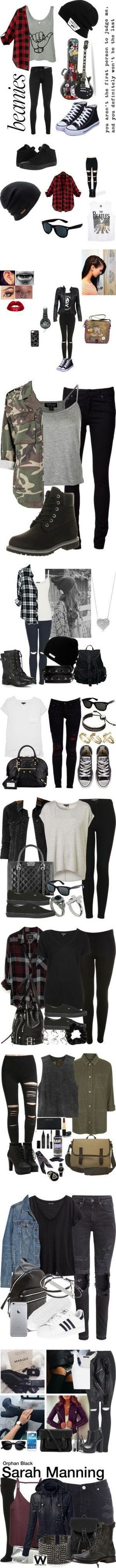 Punk Rock by pebble2000 on Polyvore featuring rag & bone, Vans, Converse, Coal, Wet Seal, Retrò, MuuBaa, Topshop, Marc by Marc Jacobs and Chanel
