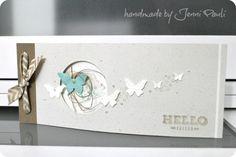 Minialbum mit Stampin'Up!, Leporello, Schmetterlinge