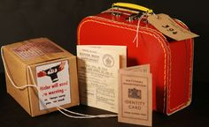 s-Evacuee Suitcase Set-Everything your child needs for 1940 s Crazy Ladies Costumes Call us 01978 661046 Evacuees Ww2, Packing Companies, Number Labels, School Information, Suitcase Set, Ap World History, Luggage Labels, Fancy Dress Accessories, Classroom Displays