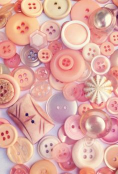 VIntage Peachy Pink Buttons