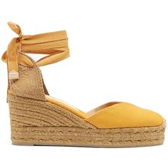 Castañer Chiara canvas wedge espadrilles (330 SAR) ❤ liked on Polyvore featuring shoes, sandals, castaner espadrilles, ankle strap sandals, braided sandals, espadrille wedge sandals and wedge sandals