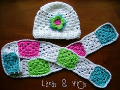 : GRANNY WHITE Hat & Scarf Patterns