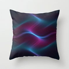 Wavy One Throw Pillow by Lyle Hatch - $20.00