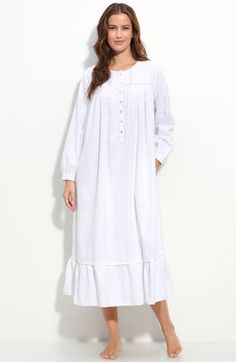 """""""Snow Queen"""" Flannel Nightgown Nightgown Pattern, Flannel Nightgown, Nightgowns For Women, Lingerie Sleepwear, Hijab Fashion, Night Gown, Lounge Wear, Cold Shoulder Dress, White Dress"""