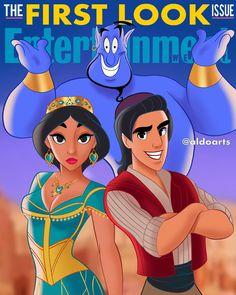 Genie is BLUE! 🧞♂️🧞♂️🧞♂️ I couldn't leave Aladdin & Genie out of the picture 😁 . Disney Nerd, Disney Memes, Disney Fan Art, Disney Love, Disney Stuff, Aladdin Art, Aladdin Live, Genie Aladdin, Estilo Disney