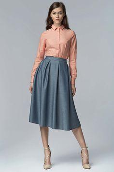 Acheter une jupe longue plissée, taille haute, rouge.