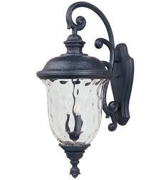 """Maxim 3498 Carriage House 31"""" 3 Light Wall Sconce Oriental Bronze / Water Glass Outdoor Lighting Wall Sconces Outdoor Wall Sconces"""