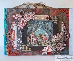 Alice Book, Up Book, Artist Trading Cards, Altered Books, Photo Book, Mini Albums, Alice In Wonderland, Decorative Boxes, Scrapbook