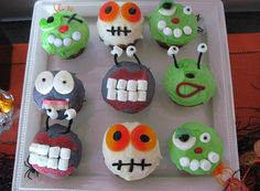 Easy Halloween Monster Cupcakes