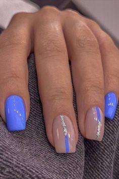 Squoval Acrylic Nails, Summer Acrylic Nails, Cute Acrylic Nails, Spring Nails, Spring Nail Art, Diy Valentine's Nails, Aqua Nails, Get Nails, Hair And Nails