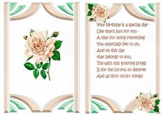 peach rose in art deco frame with bow A5 Insert, makes a pretty card, also matching insert